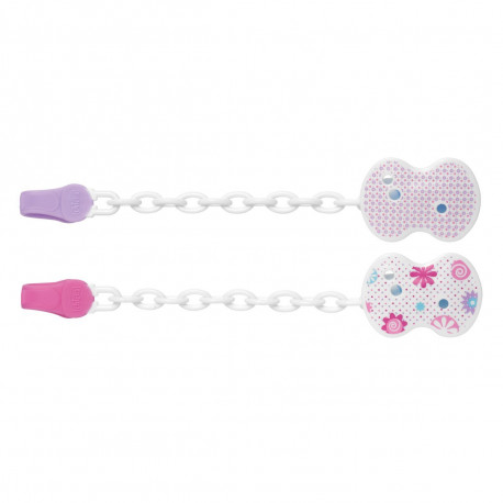 Clip con Catenella rosa (2 decori assortiti)