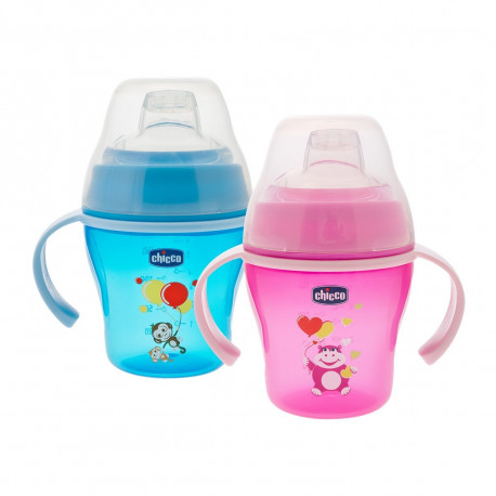 Soft cup 6m+ pink&blue